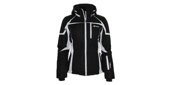 Dámská černá lyžařská bunda s bílými prvky Kilpi