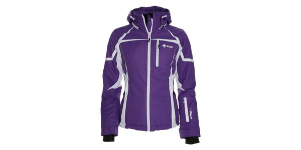 Dámská fialová lyžařská bunda s bílými prky Kilpi