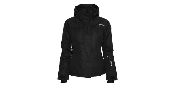 Dámská černá lyžařská bunda s kapucí Kilpi