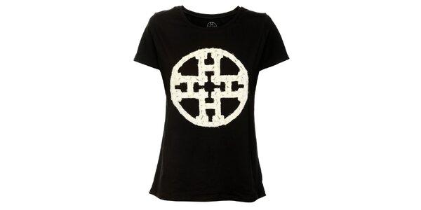 Dámské černé tričko Hope s krajkovou aplikací