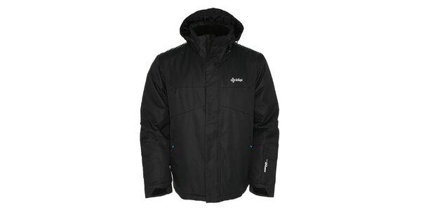 Pánská černá lyžařská bunda s kapucí Kilpi