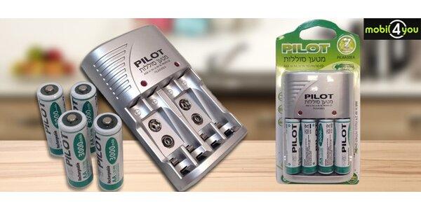 Nabíječka na tužkové baterie AA včetně 4ks dobíjecích baterií