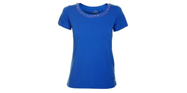 Dámské sytě modré tričko Hope s řetízkem