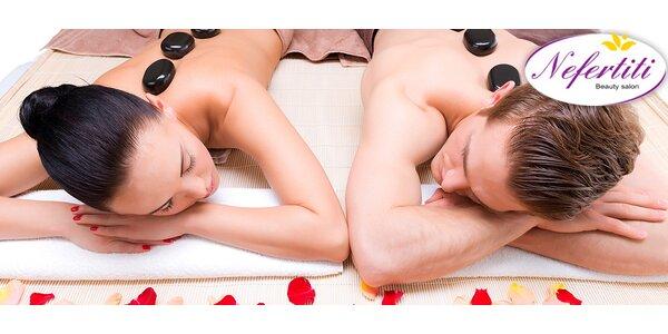 Romantická párová masáž v Salonu Nefertiti