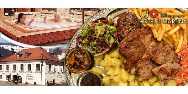 3denní relax v Jižních Čechách s výborným jídlem