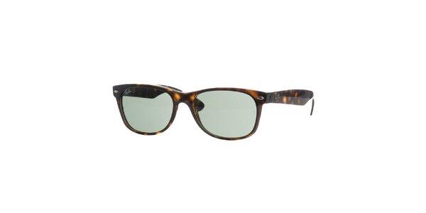 Tmavě hnědé žíhané sluneční brýle Ray-Ban New Wayfarer