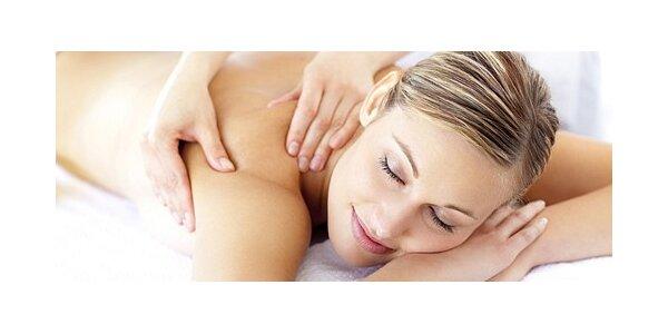 Relaxační levandulová masáž zad a šíje