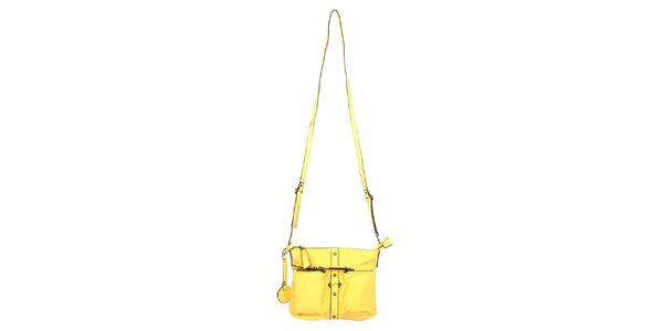 Dámská žlutá taška přes rameno Elite