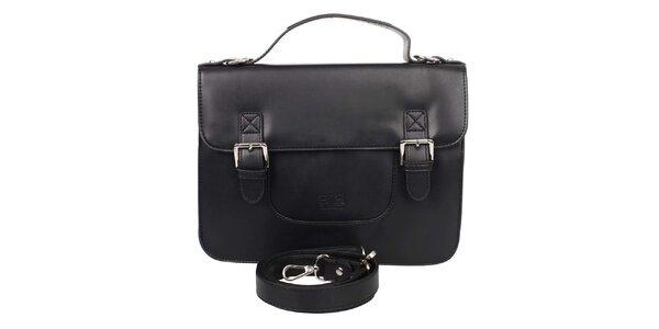 Dámská černá kabelka s klopou Elite