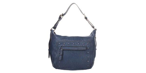 Dámská tmavě modrá kabelka s ozdobnými cvočky Elite