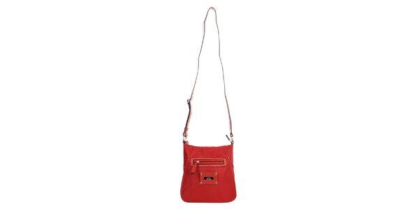 Dámská červená kabelka se zipem Elite