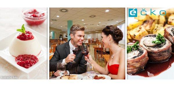 Romantické menu pro dva s přípitkem