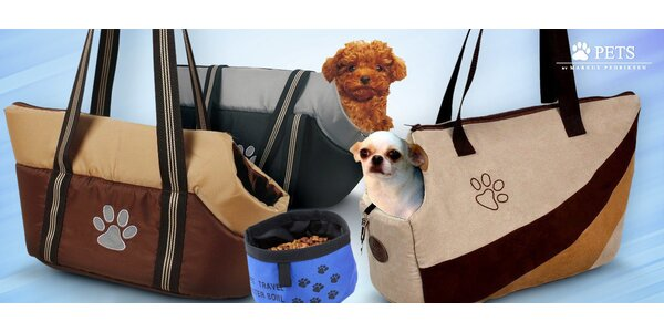 Tašky na pejsky + miska jako dárek