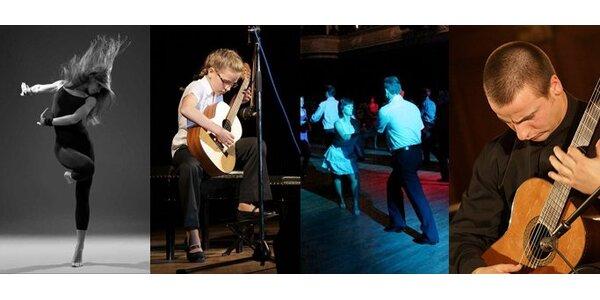 125 Kč za DVĚ taneční lekce nebo jednu individuální lekci výuky na kytaru.