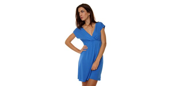 Dámská zářivě modrá noční košile Calvin Klein