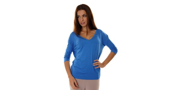 Dámský zářivě modrý pyžamový top Calvin Klein
