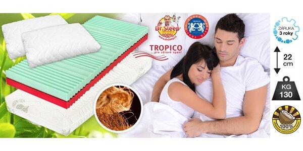 Matrace Tropico Kokos MAX + 2 paměťové polštáře