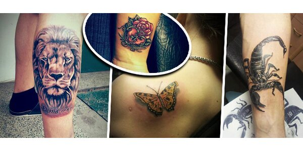 Tetování o rozměrech 16x16 cm nebo 5x5 cm