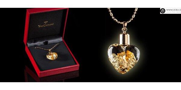Luxusní náhrdelník plněný 24 karátovým zlatem