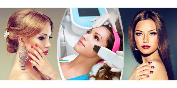 Celkové ošetření pleti značkovou BIO kosmetikou s ultrazvukovou špachtlí a…