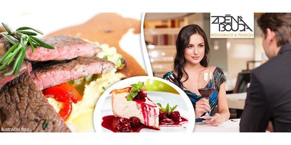 Gurmánské víkendové menu pro dva ve Zděné boudě