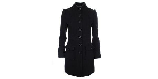 Dámský černý kabát s kapsami Phard