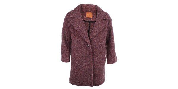 Dámský melírovaný oversized kabát Phard
