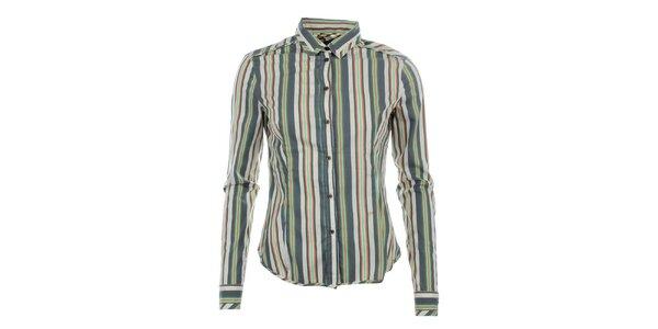 Dámská pruhovaná košile s dlouhým rukávem Phard