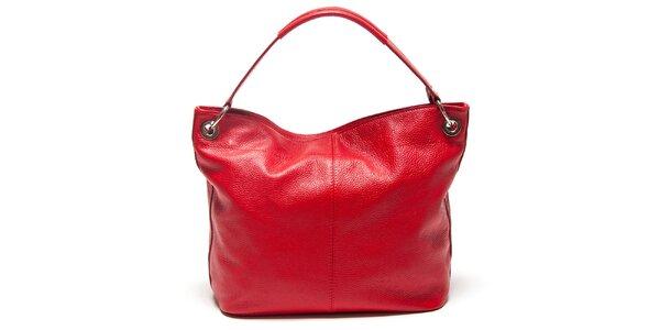 Dámská červená kabelka s vnější kapsičkou Mangotti