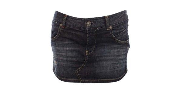 Dámská tmavě modrá džínová minisukně Zu Elements