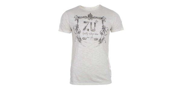 Pánské krémově bílé triko Zu Elements