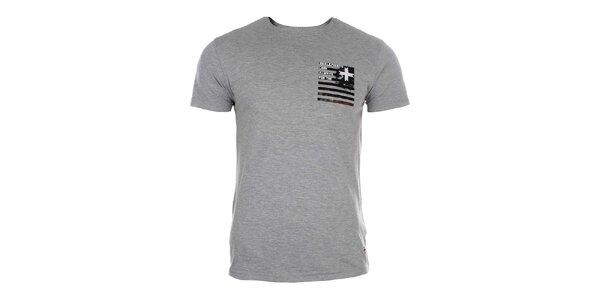 Pánské šedé tričko s krátkým rukávem Zu Elements