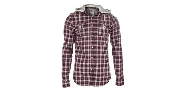 Pánská kostkovaná košile s kapucí Zu Elements