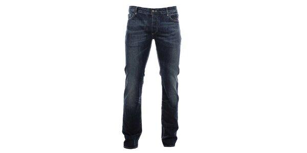 Pánské modré džíny s červeným křížem na zadní kapse Zu Elements