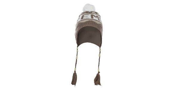 Béžová zimní čepice s bambulí Zu Elements