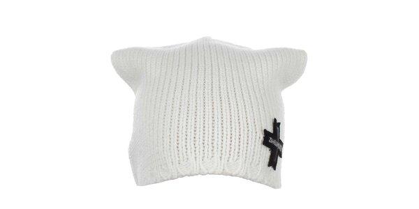 Bílá zimní čepice Zu Elements