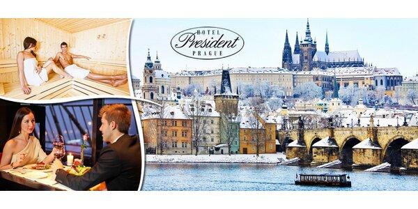 Romantika s výhledem na Pražský hrad v 5* hotelu President