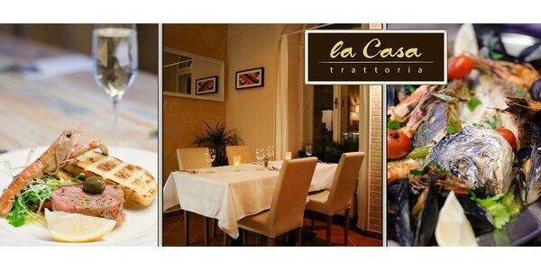 Večeře s mořskými plody pro dva v trattorii La Casa