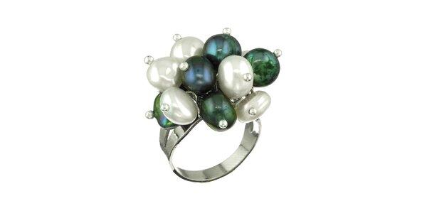 Dámský prsten Orchira s barevnými perlami