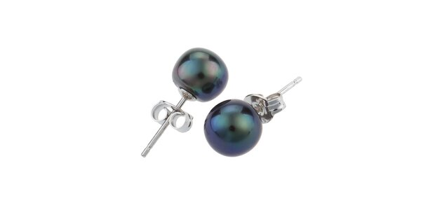 Dámské náušnice s tmavými perlami Orchira