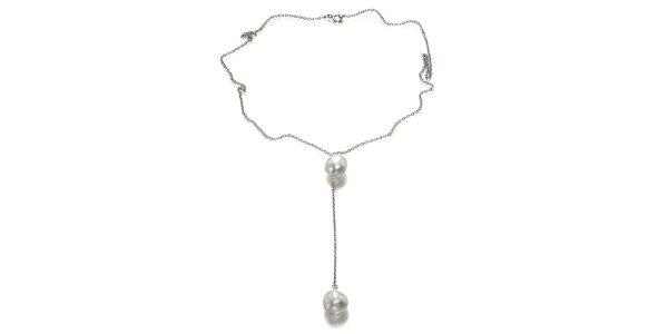 Dámský náhrdelník se dvěma perlami Orchira