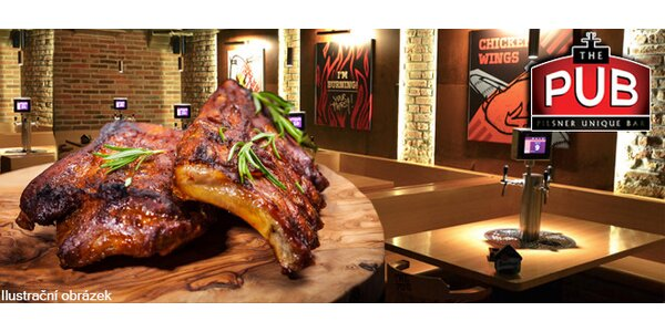 2x400g BBQ Ribs v The PUB Liberec