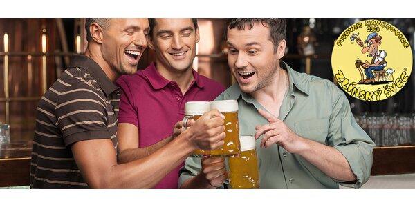 3 piva Zlínský švec + PETka 1,5 l s sebou