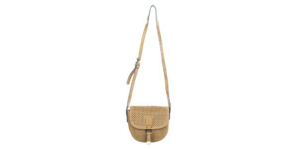Dámská kabelka s dekorativní perforací Caro Paris - velbloudí barva