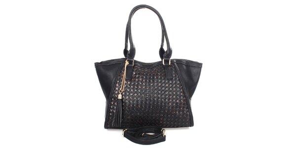 Dámská černá kabelka se střapcem Caro Paris