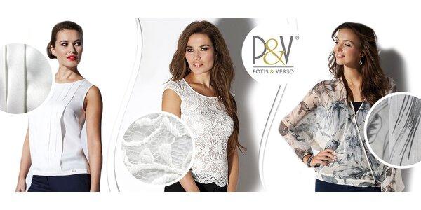 Nadčasové a elegantní topy Potis&Verso