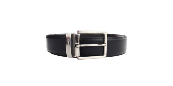Pánský hnědo-černý oboustranný pásek Calvin Klein - hladký