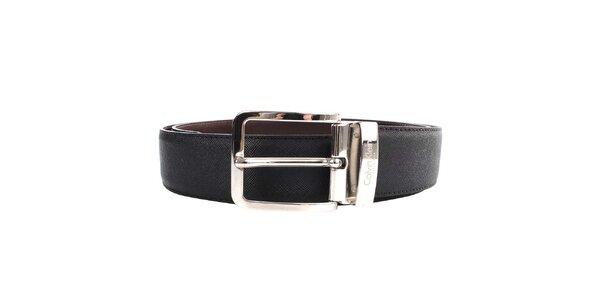 Pánský hnědo-černý oboustranný pásek Calvin Klein - kožený