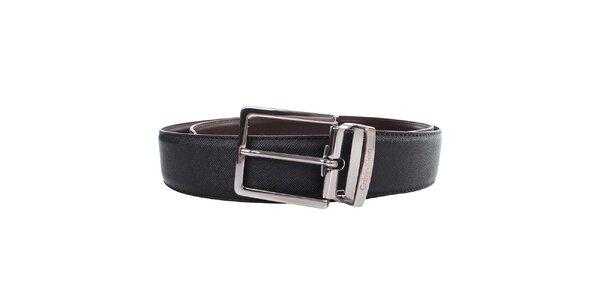 Pánský hnědo-černý oboustranný pásek Calvin Klein
