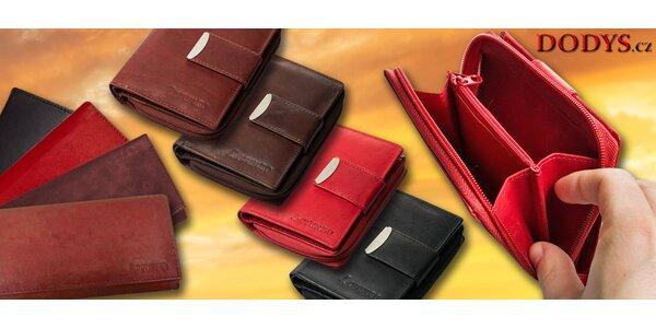 Luxusní dámské kožené peněženky